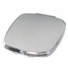 Handy Folding Stainless Steel Casing Double Mirror - Silver