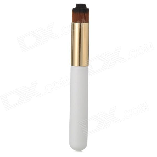 0321 Convenient Bar Type Facial Cleaning Brush - White + Golden + Brown