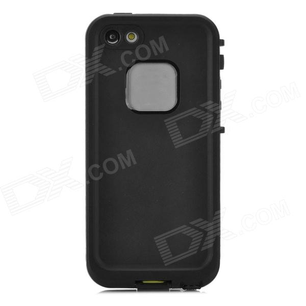 Protective Plastic Back Case for Iphone 5 - Black nillkin protective matte plastic back case w screen protector for iphone 6 4 7 golden