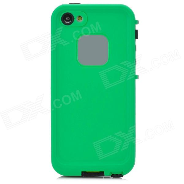 Waterproof Protective Plastic Full Body Case for Iphone - Black + Green fujifilm x t2 body black