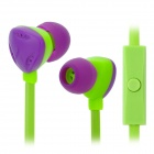KEEKA MIC-101 In-Ear Earphone w/ Microphone - Green + Purple
