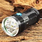 TANGSPOWER Fing 5 x Cree XM-L U2 3000lm 3-Mode White Flashlight - Black (1~4 x 18650)