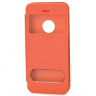 CS Protective PU Leather Case for iPhone 5c - Orange