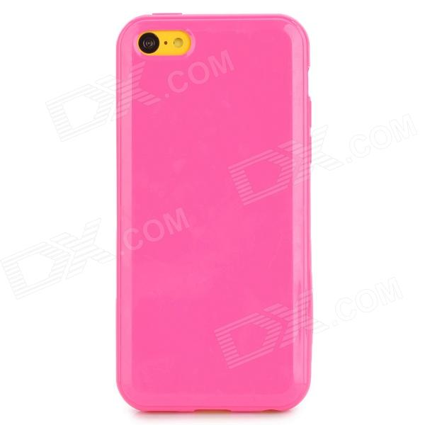 Protective Silicone Back Case for Iphone 5C - Deep Pink luck case 04 stylish protective silicone back case for iphone 5c deep pink