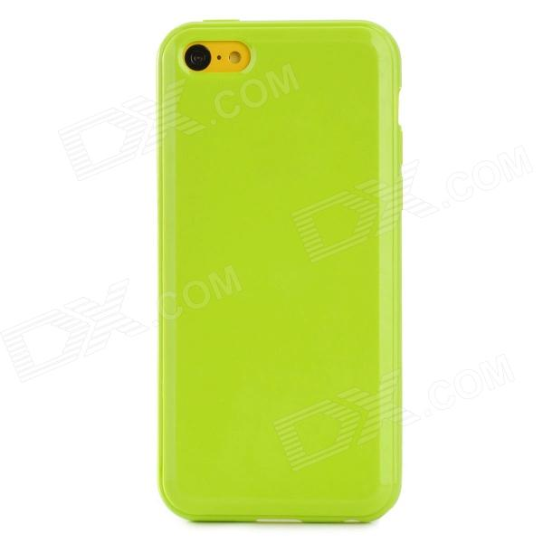 Protective Silicone Back Case for Iphone 5C - Yellowish Green