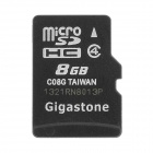Gigastone Y-8 High Speed Micro SDHC Memory Card - Black + White (8GB / Class 4)
