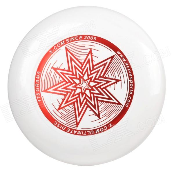 X-COM STAR PVC Professional PVC Flying Disc Frisbee - White + Red