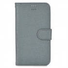 "Stylish Oracle Style Protective PU Case w/ Card Slots for 4.9~5.5"" Phone - Grey"