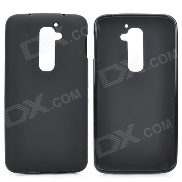 Protective Silicone Back Case for LG G2, D801, F320, F340L, LS980 - Black