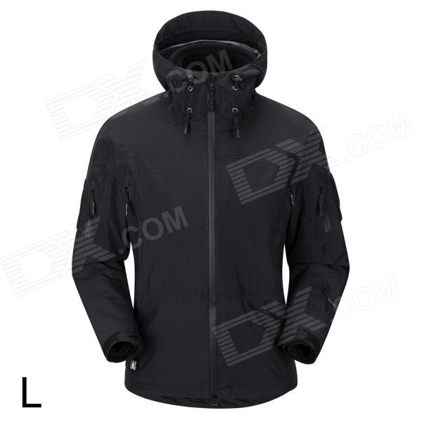 Free Soldier FS-YK01 Men's Anti-UV Water Resistant Chinlon Cycling Jacket Coat - Black (Size L)