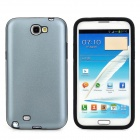 Protective Aluminum + Silicone Case  for Samsung Galaxy Note II N7100 - Grey + Black