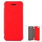 Protective PU Leather Case Cover for iPhone 5c - Red