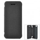 Protective PU Leather Flip-open Case for Iphone 5C - Black