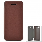 Protective PU Leather Case Cover for Iphone 5C - Brown