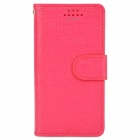 "Stylish Oracle Style Protective PU Case w/ Display Window  for 3.6~4.3"" Phone - Deep Pink"