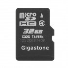 Gigastone Y-32 High Speed ​​Micro SDHC-Speicherkarte - Schwarz (32GB / Class 4)