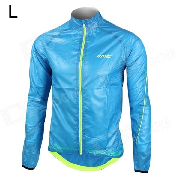 Santic MC07003B Men's Ultrathin Anti-UV Water Resistant Dacron Cycling Jacket Coat - Blue (Size L)