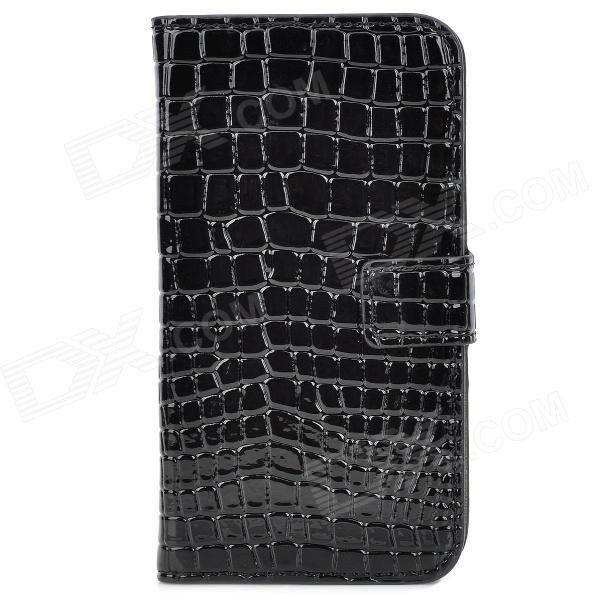 Alligator Pattern Protective  PU + Plastic Case w/ Card Slots for Samsung i9500 - Black - DXPlastic Cases<br>Brand N/A Quantity 1 Piece Color Black Material PU + Plastic Compatible Models Samsung i9500 Other Features With 2 card slots Packing List 1 x Case<br>
