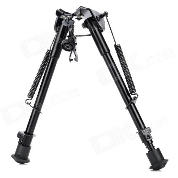 Y05 9 Aluminum Alloy Spring Loaded Retracable Bipod 6 aluminum alloy tactical bipod w extendable leg for guns black