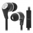 KEEKA MIC-105 Fashion In-Ear Earphone w/ Microphone - Black + White