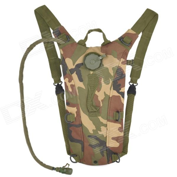 Fashion Outdoor Oxford Fabric Survival Water Bag Backpack w/ Drinking Tube - Camouflage (2.5L)