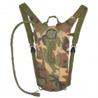 KMS Fashion Outdoor Oxford Fabric Survival Water Bag Backpack w/ Drinking Tube - Camouflage (2.5L)