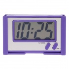 "BK-608 2"" LCD High Light LED Digital Car Clock w/ Holder - Purple + Silver (1 x 389A)"