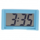 "BK-208 2"" LCD High Light LED Digital Car Clock w/ Holder - Blue (1 x 389A)"
