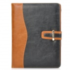 Protective PU Leather Case Cover w/ Zipper Bag / Card Slots for iPad 2 / 3 / 4 - Black + Brown