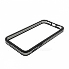 Protective PC + TPU Parachoques Marco para Iphone 5 / 5S - Negro + translúcido