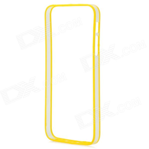 Protective PC + TPU Bumper Frame for Iphone 5 / 5S - Yellow + Translucent protective tpu   pc bumper frame for lg
