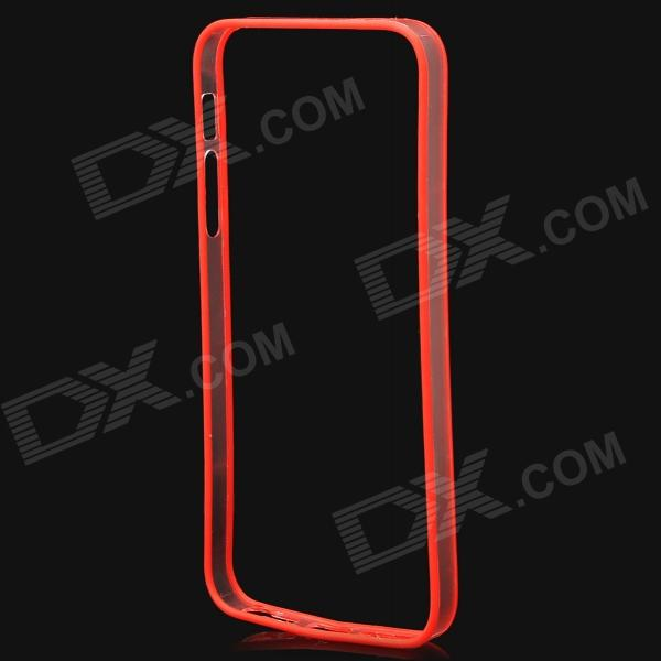 Protective PC + TPU Bumper Frame for Iphone 5 / 5S - Red + Translucent