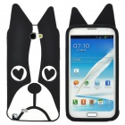 Dog Style Protective Silicone Case for Samsung N7100 - Black + White