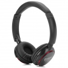 BT-9001 Bluetooth V2.1 Over-the-Ear Stereo MP3 Headphone w/ TF / FM Radio / Mic - Black + Red