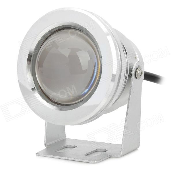 JZ IP67 impermeável 10W 3300K 600lm luz branca morna LED Underwater Lamp - Prata