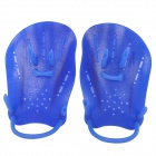 Plastic Swimming Hand Flipper - Blue (2 PCS)