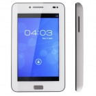 "THTF E300 (Little White) 5"" Android4.0 2G Phone Tablet w/ Dual camera, 512MB RAM, 4GB ROM -White"