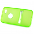 Protective Silicone Back Case w/ Stand for Iphone 5C - Green + White