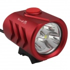 SingFire SF-814A 3 x CREE XM-L T6 2400lm White 5-Mode LED Bicycle Headlight - Red (4x18650)