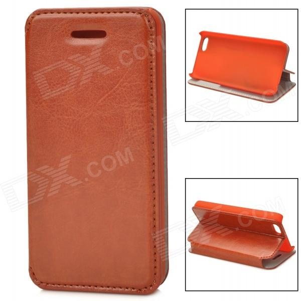 Protective Flip-open PU Leather Case for Iphone 5C - Brown usams protective pu leather flip open case for iphone 5c blue
