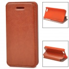Protective Flip-open PU Leather Case for iPhone 5c - Brown