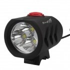 SingFire SF-814B 2400lm White 5-Mode LED Bicycle Headlight w/ 3 x CREE XM-L T6 - Black (4x18650)