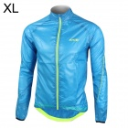 Santic MC07003B Men's Ultrathin Anti-UV Water Resistant Dacron Cycling Jacket Coat - Bluee (Size XL)