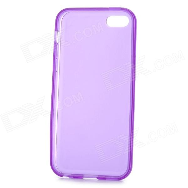 Matte Protective Silicone Back Case for Iphone 5C - Purple