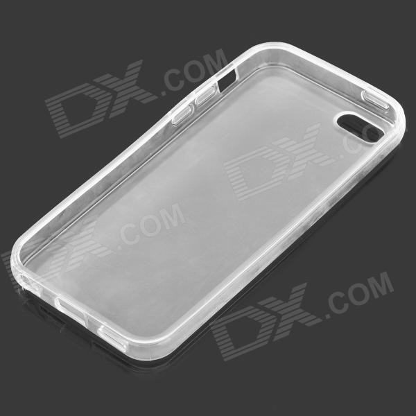 Matte Protective Silicone Back Case for Iphone 5C - Translucent White