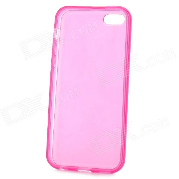 Matte Protective Silicone Back Case for Iphone 5C - Deep Pink luck case 04 stylish protective silicone back case for iphone 5c deep pink