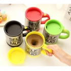 Self-Stirring Mug - Silver + Yellow (2 x AAA / 400ml)