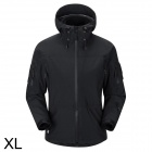 Free Soldier FS-YK01 Men's Anti-UV Water Resistant Chinlon Cycling Jacket Coat - Black (Size XL)