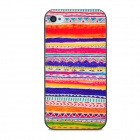 Tribal Pattern Protective Plastic Back Case for Iphone 4 - Multicolored