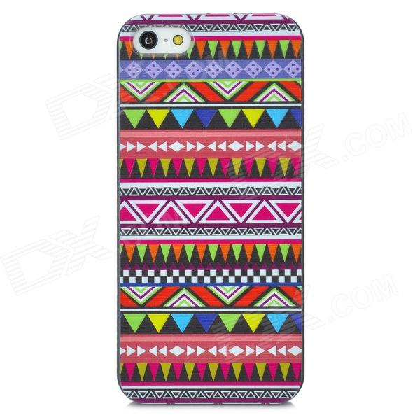 Tribal Pattern Protective Plastic Pattern Back Case for Iphone 5 - Multicolored kinston flowers butterfly pattern pu plastic case w stand for iphone 6 plus multicolored